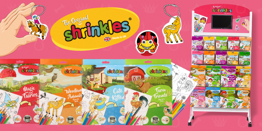 Shrinkles Craft Packs Range - Wholesale