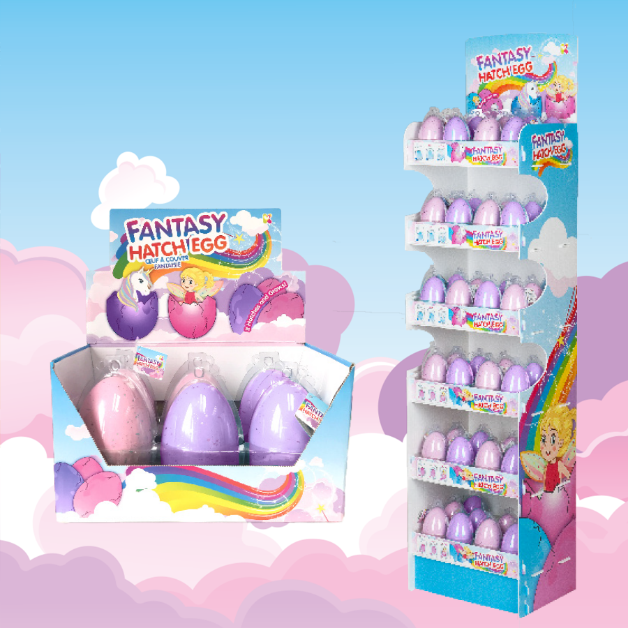 Nurchums Fantasy Eggs Display Stand and Display Box