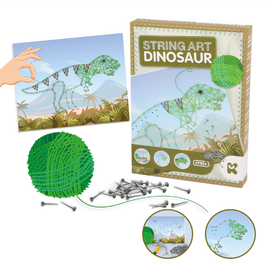 Dinosaur String Art Crafts