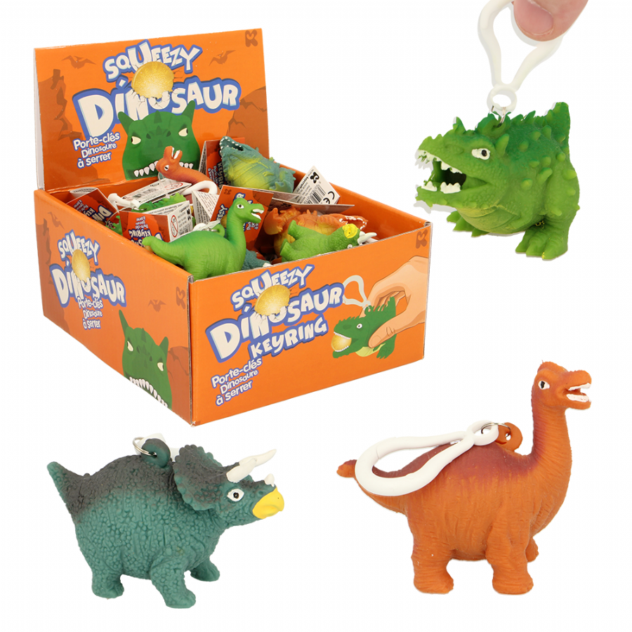 Squeezy Dino Keyrings