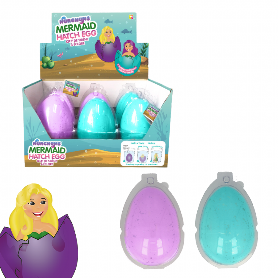 Nurchums Mermaid Hatch Eggs for Easter