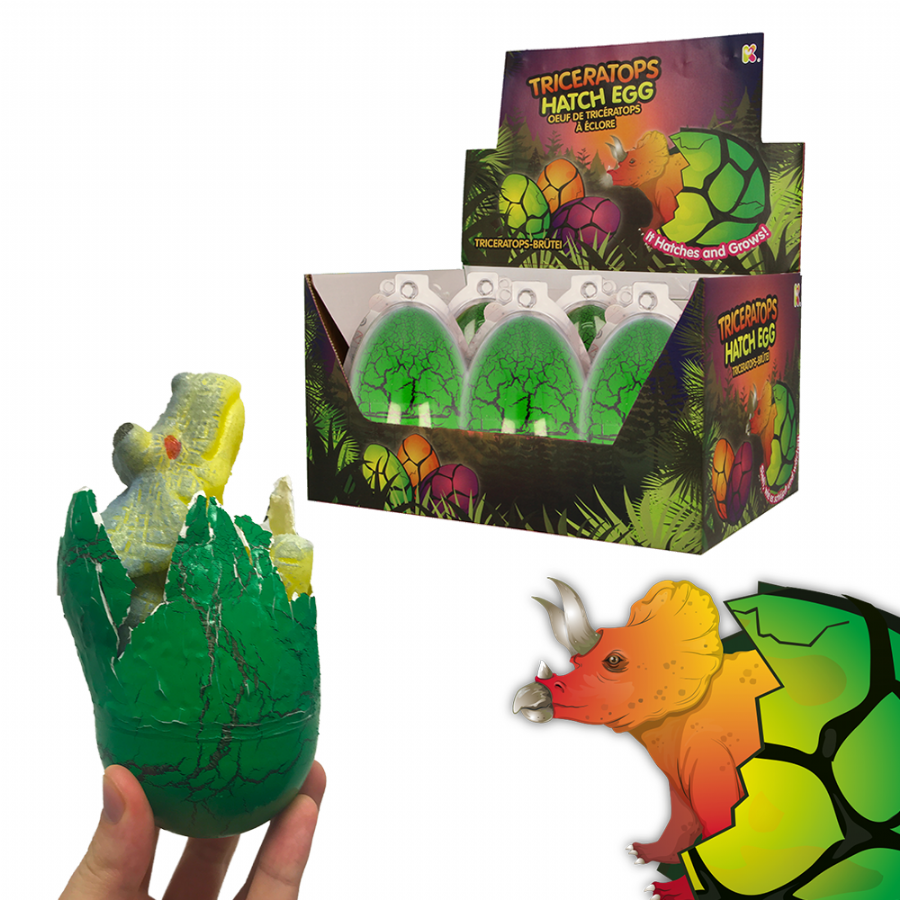 Nurchums Triceratops Dino Hatch Eggs for Easter
