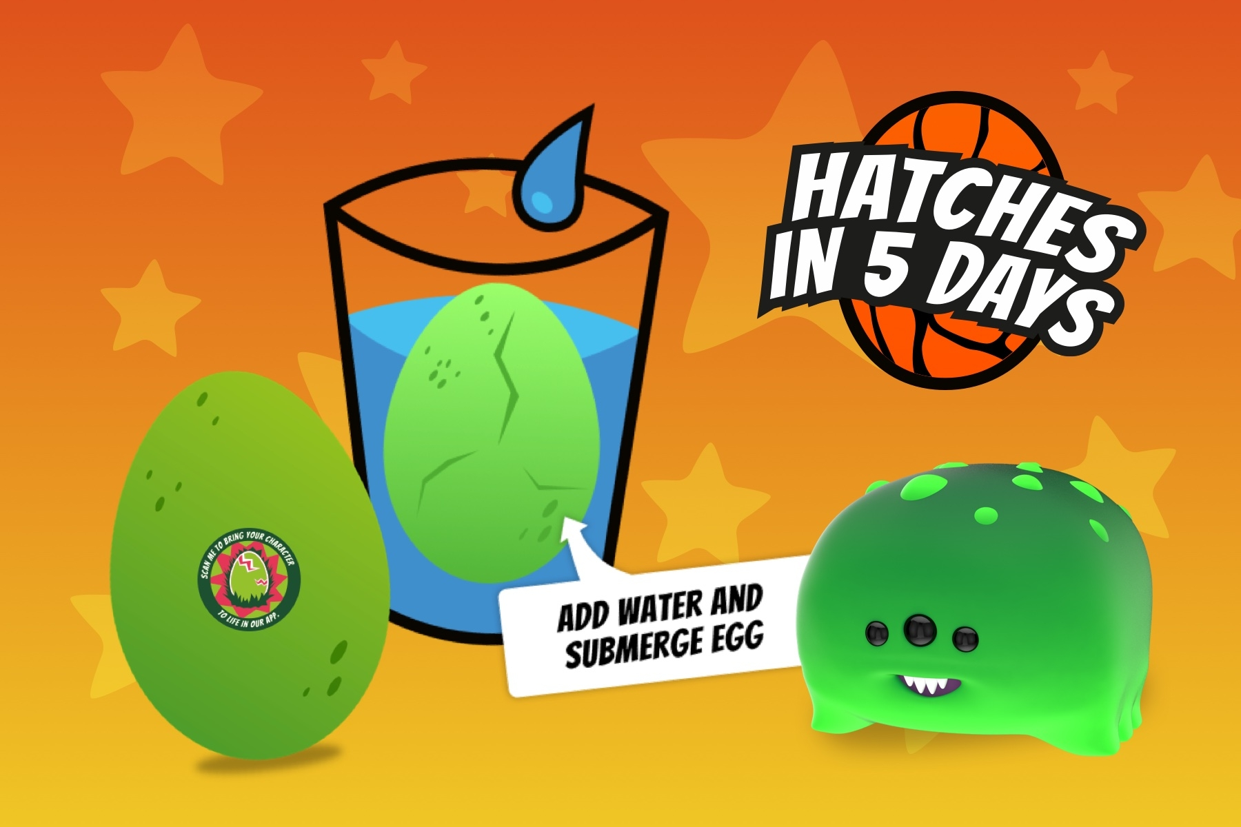 Nurchums™ Elementos – Which one will you hatch? Hatching Egg Toys with augmented reality app.