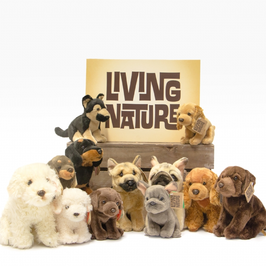 Living Nature Soft Toy Dogs