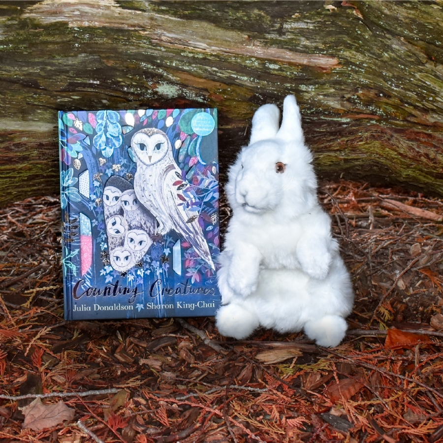 Living Nature - Counting Creatures - Arctic Hare Soft Toy