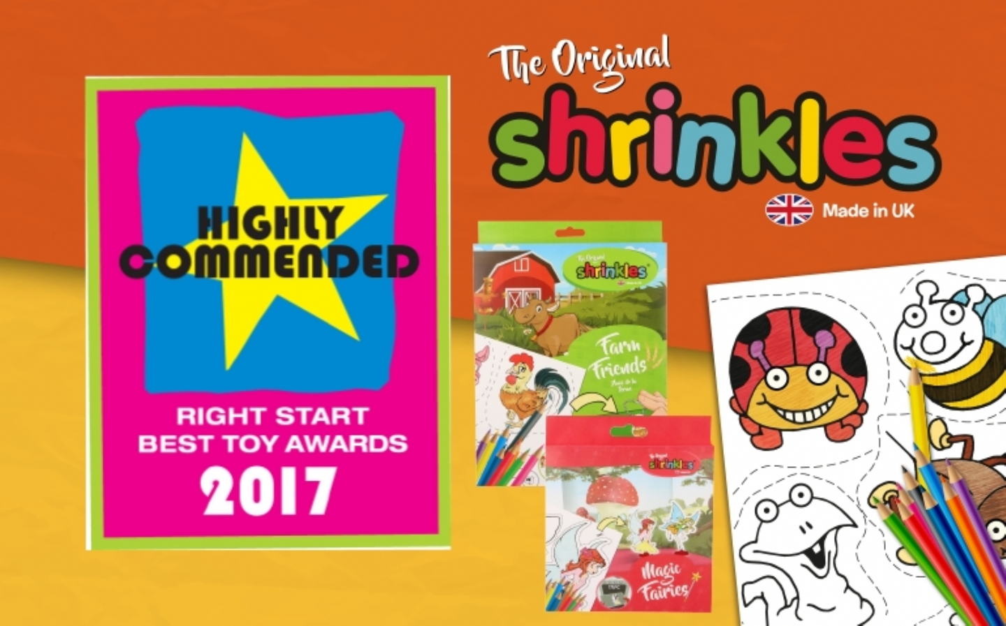Highly Commended Award for Shrinkles in Right Start Toy Awards