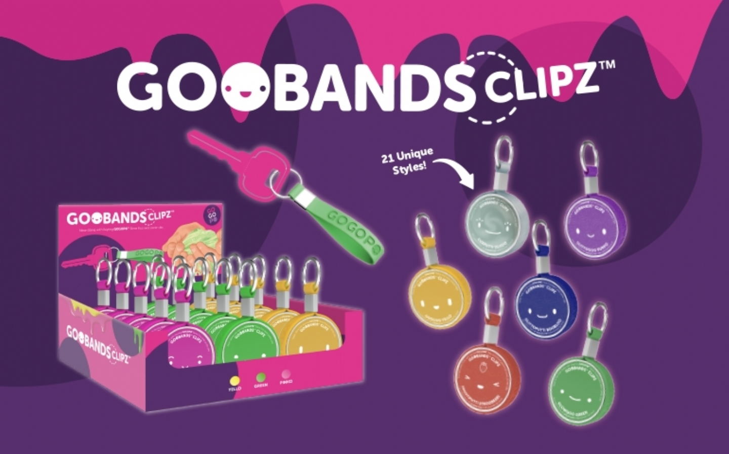 Goobands CLIPZ slime - perfect for on-the-go gooey fun!